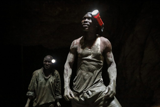 epa05202276 (11/28) Miners look on as they take a short break before restarting their work to extract gold-containing ores inside the mine, about 50 meters deep from the surface, at a gold mining site in Osiri, Migori county, western Kenya, 01 March 2016. The recent explorations conducted by the government and private companies are said to have revealed large gold deposits in western Kenya, which could lead to the large-scale commercial mining that could put Kenya on the map of the top gold producers in Africa. EPA/DAI KUROKAWA PLEASE REFER TO ADVISORY NOTICE (epa05202265) FOR FULL PACKAGE TEXT