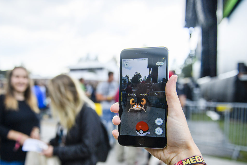 Pokemon Go am Gurtenfestival