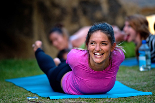 Lululemon Athletica Hosts Summer Sunset Yoga Class At The Serpentine Pavilion