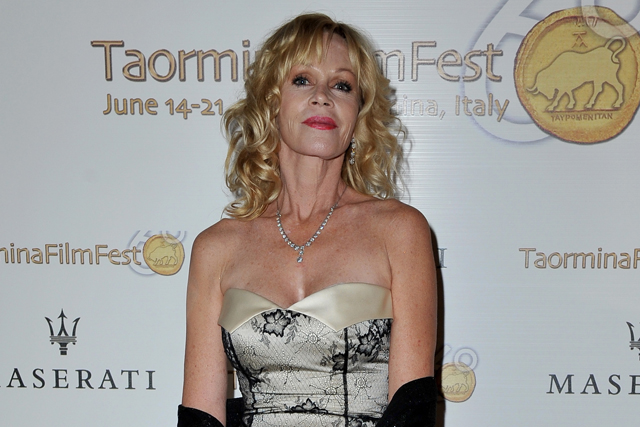 TAORMINA, ITALY - JUNE 19: Melanie Griffith attends the 60th Taormina Film Festival on June 19, 2014 in Taormina, Italy. (Photo by Valerio Pennicino/Getty Images for Maserati)
