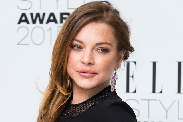 LONDON, ENGLAND - FEBRUARY 24: Lindsay Lohan attends the Elle Style Awards 2015 at Sky Garden @ The Walkie Talkie Tower on February 24, 2015 in London, England. (Photo by Ian Gavan/Getty Images)