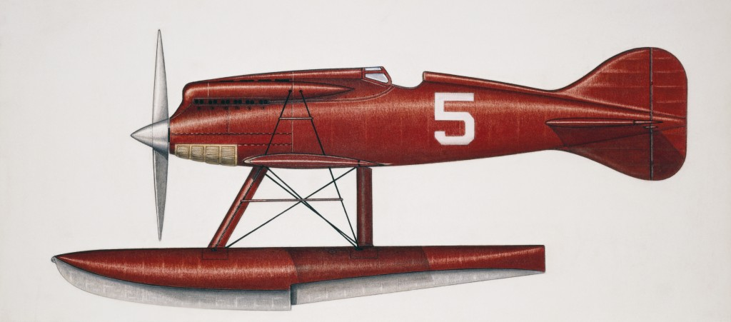 ITALY - AUGUST 02: Macchi M39 racing seaplane, 1926, Italy, drawing. (Photo by DeAgostini/Getty Images)