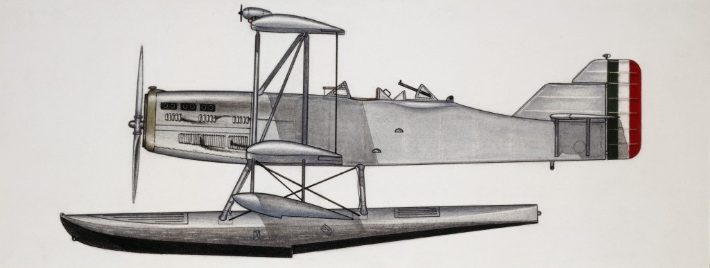 ITALY - AUGUST 02: Piaggio P6 seaplane, 1926, Italy, drawing. (Photo by DeAgostini/Getty Images)