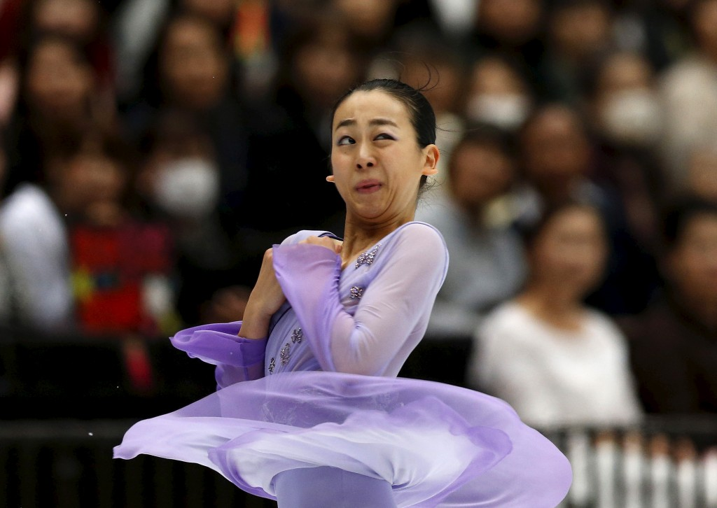 Mao Asada of team Japan competes during the Japan Open Figure Skating Team Competition in Saitama, Japan, October 3, 2015. REUTERS/Yuya Shino TPX IMAGES OF THE DAY - RTS2TSG