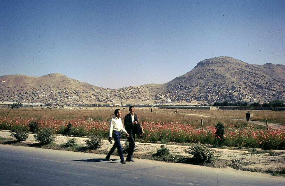 """""""Young Afghans walking home. """""""