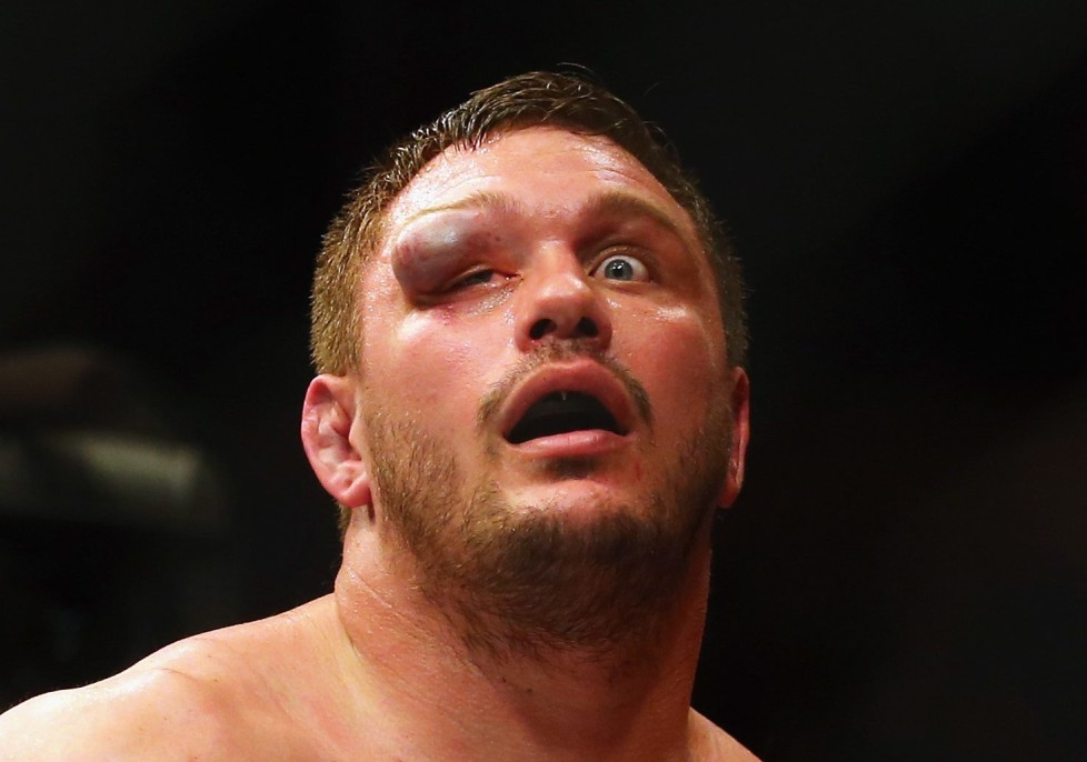 BOSTON, MA - JANUARY 17: Matt Mitrione reacts after his heavyweight bout against Travis Browne (not pictured) during UFC Fight Night 81 at TD Banknorth Garden on January 17, 2016 in Boston, Massachusetts. (Photo by Maddie Meyer/Getty Images) *** BESTPIX ***