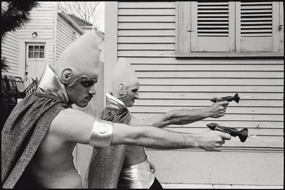 USA. New Orleans, Louisiana. 1982. Mardi Gras. Coneheads.