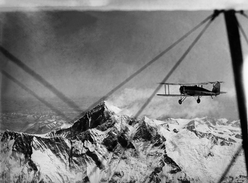 (GERMANY OUT) The Houston Mount Everest Flight: The second Flight. The Houston Westland machine flying towards Everest, approaching Lhotse at 32.000 ft. - April 1933- Photographer: BonnettVintage property of ullstein bild (Photo by ullstein bild/ullstein bild via Getty Images)
