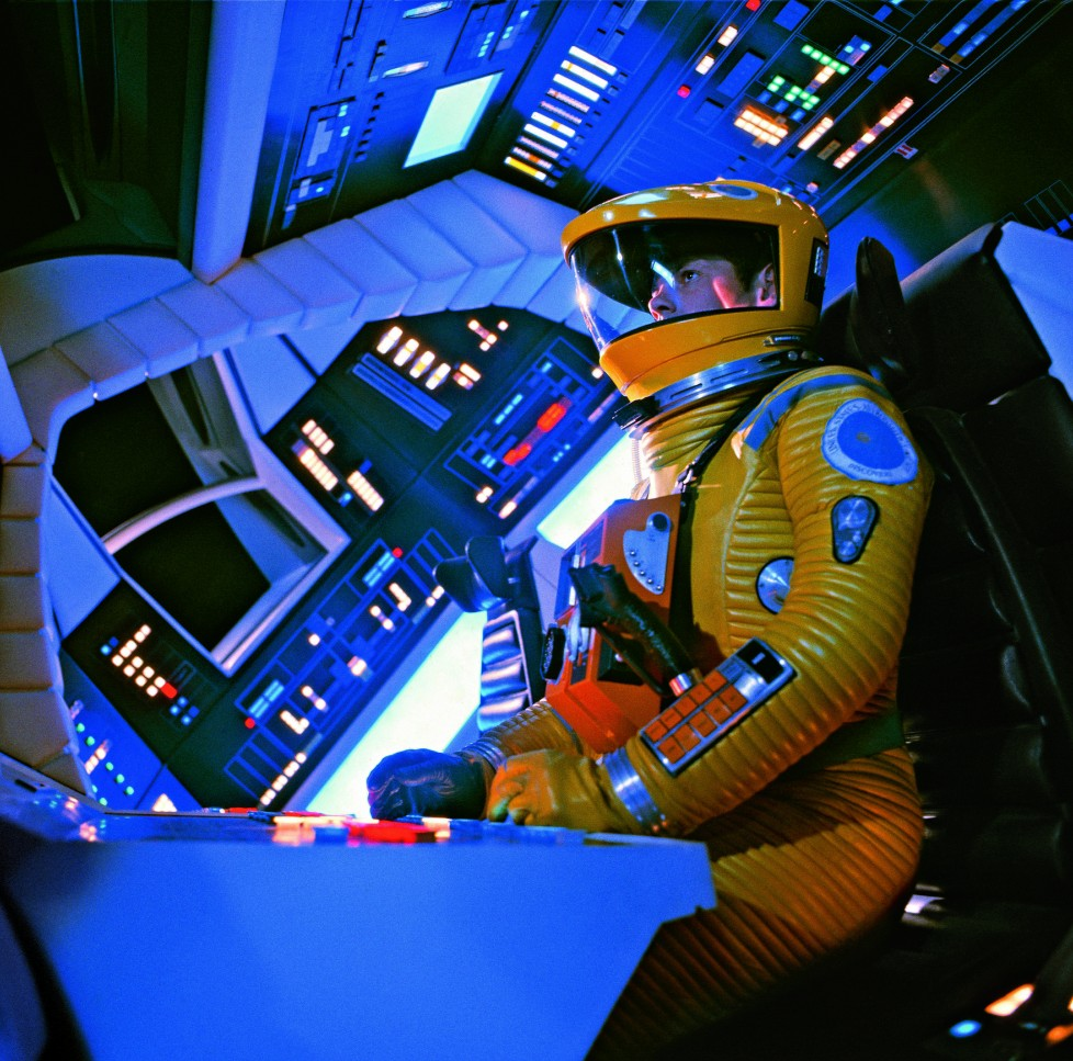 Actor Gary Lockwood in the main command deck of 2001: A Space Odyssey's interplanetary spacecraft © Stanley Kubrick Archives/TASCHEN © 2014 Turner Entertainment Co. 2OO1: A Space Odyssey and all related characters and elements are trademarks of and © Turner Entertainment Co. (s14)