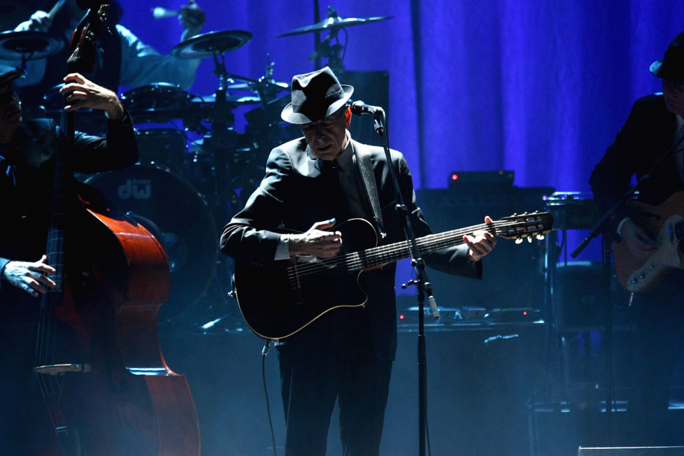 NEW YORK - FEBRUARY 19: Musician Leonard Cohen performs at the Beacon Theatre February 19, 2009 in New York City. (Photo by Michael Loccisano/Getty Images)