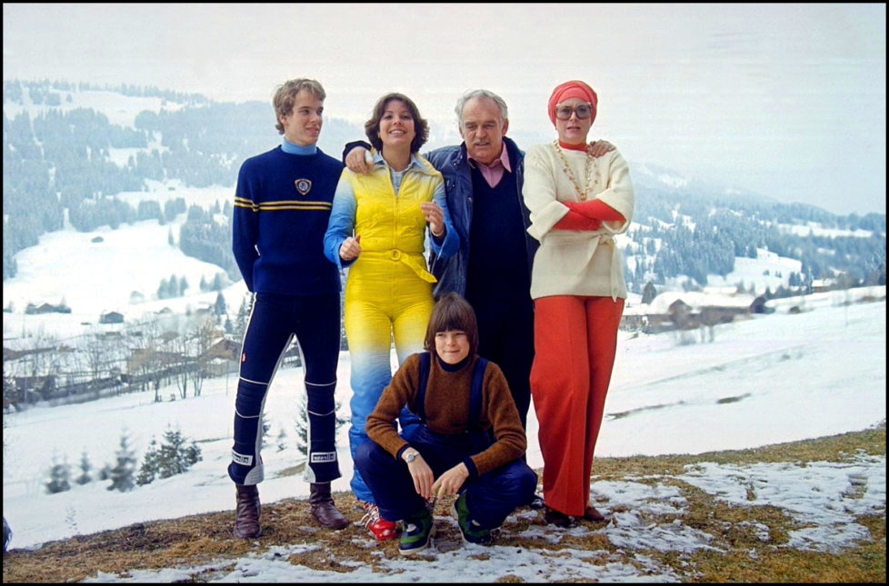 SWITZERLAND - APRIL 01: Retro: 40 years of the reign of prince Rainier in Gstaad, Switzerland in April 1989. (Photo by Daniel SIMON/Gamma-Rapho via Getty Images)